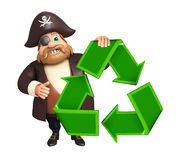 Pirate with Recycle sign Royalty Free Stock Image