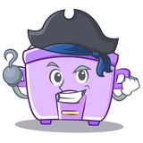 Pirate rice cooker character cartoon Royalty Free Stock Photography