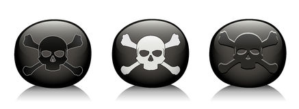 Pirate rock black mark Stock Photos