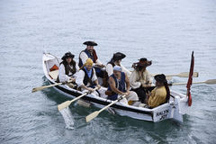 Pirate rowboat Royalty Free Stock Images