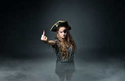Pirate rude gestures Royalty Free Stock Photo