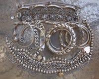 Pirate's silver treasure Stock Photo