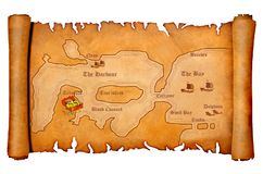Pirate's treasure map Royalty Free Stock Images