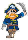 Pirate with sabre. Vector illustration Royalty Free Stock Photo
