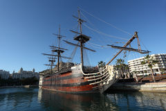 Pirate sail ship in Alicante, Spain Stock Image