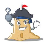 Pirate sandcastle character cartoon style Stock Photography