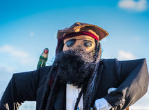 Pirate Scarecrow Royalty Free Stock Photos