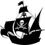 Pirate schooner Stock Image