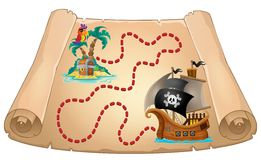 Pirate scroll theme image 1 Royalty Free Stock Photos