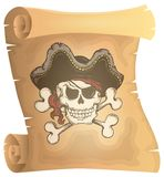 Pirate scroll theme image 3 Royalty Free Stock Image