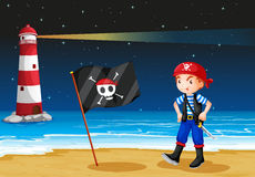 A pirate and the sea parola Stock Photos