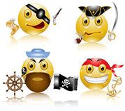 Pirate sea smile character Royalty Free Stock Images