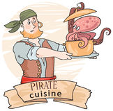 Pirate seafood soup Stock Photography