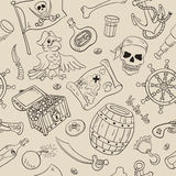 Pirate seamless pattern Royalty Free Stock Images