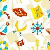 Pirate seamless pattern royalty free stock photography