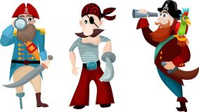 Pirate set. Vector illustration of a pirate set Stock Image