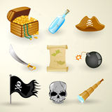 Pirate set Stock Image