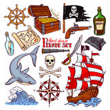 Pirate set Stock Images
