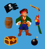 Pirate set - design elements Royalty Free Stock Image