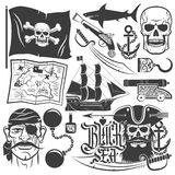 Pirate set Stock Photos