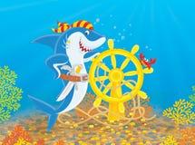 Pirate Shark Stock Image