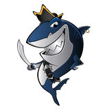 Pirate shark Royalty Free Stock Photography
