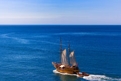 Pirate ship. Tourist cruise on a pirate sailing ship Stock Photo