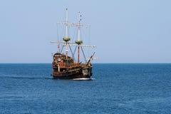 Pirate ship. Cruise ship on a calm sea pirates Baltic Stock Photography