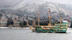 Pirate ship. Sightseeing ship in Hakone, near Tokyo Royalty Free Stock Photography