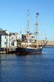 Pirate Ship. Rockport inner harbour and the pirate ship Formidable. The Formidable takes visitors on a relaxing cruise on the waters of historic Cape Ann and Royalty Free Stock Images
