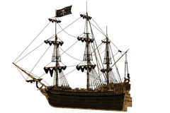Pirate Ship. A dangerous Pirate Ship - isolated on white Stock Image