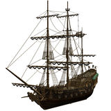 Pirate Ship. A dangerous Pirate Ship - isolated on white Royalty Free Stock Photos