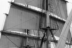 Pirate ship. Sails on a ship Stock Photo