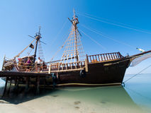 Pirate Ship. Big pirate ship in Tunisia Stock Photos