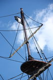 Pirate ship. An old pirate ship on a blue sky Stock Photo