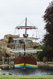 Pirate ship in amusement park Royalty Free Stock Images