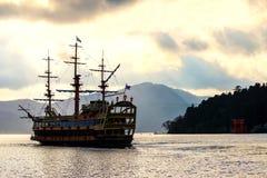 pirate ship on Ashi lake, Hakone Royalty Free Stock Photo