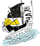 The pirate ship is attacking. Stock Images