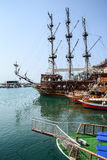 The pirate ship at the beach of Cleopatra Royalty Free Stock Photography