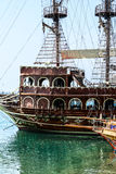 The pirate ship at the beach of Cleopatra Stock Image