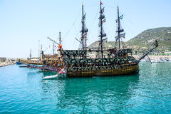 The pirate ship at the beach of Cleopatra Royalty Free Stock Images