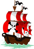 Pirate ship cartoon Stock Photos
