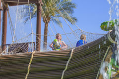 Pirate ship in cleo water park, image 4 royalty free stock photo