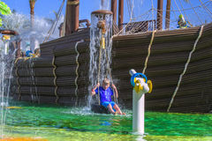 Pirate ship in cleo water park,  image 7 Royalty Free Stock Photo