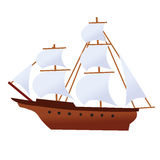 Pirate ship corsair vessel ghost ship Stock Images