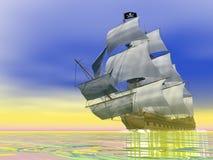 Pirate Ship - 3D render Stock Photos