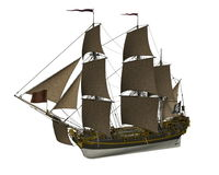Pirate Ship - 3D render Stock Photography