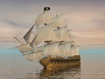 Pirate ship - 3D render Stock Images