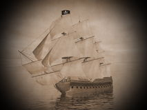Pirate ship - 3D render Stock Photo