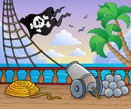 Pirate ship deck theme 1 Stock Image
